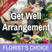 Florist's Choice Get Well Arrangement With Chocolates