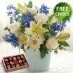 Blue Mist Bunch With Free Chocolates