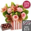 Blush Pinks Arrangement With Free Chocolates