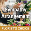 Florists Choice Sympathy Arrangement